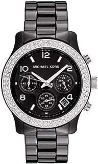 Michael Kors Runway Women's Black Dial Ceramic Band Chronograph Watch - MK5190