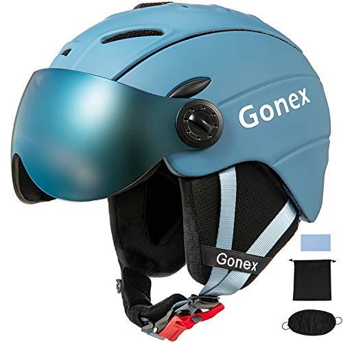 Gonex Skihelm met omkeerbare en afneembare bril, MS-95 Winter Snowboard Winddichte Skihelm voor Mannen, Vrouwen & Jong, Accessoires inbegrepen