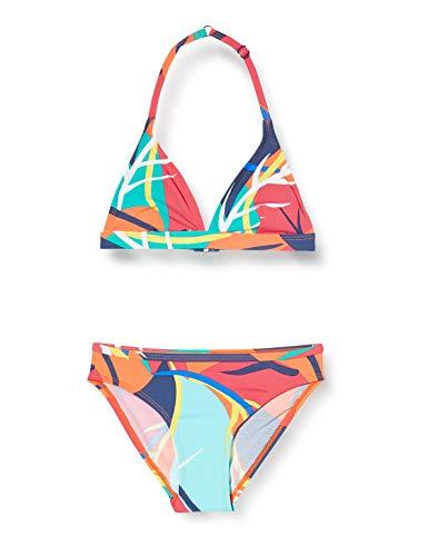 ESPRIT Bodywear Mädchen Tilly Beach YG Triangle+Brief Bikini-Set, 825/RED ORANGE, 164