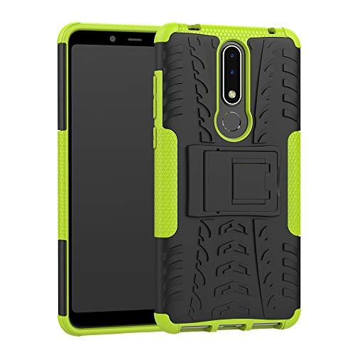 CaseExpert Nokia 3.1 Plus Funda, Heavy Duty Silicona híbrida con Soporte Cáscara de Cubierta Protectora de Doble Capa Funda Caso para Nokia 3.1 Plus