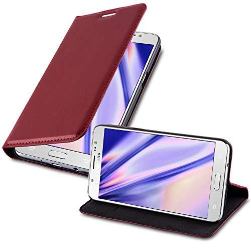 Cadorabo Funda Libro para Samsung Galaxy J5 2016 en Rojo Manzana – Cubierta Proteccíon con Cierre Magnético, Tarjetero y Función de Suporte – Etui Case Cover Carcasa