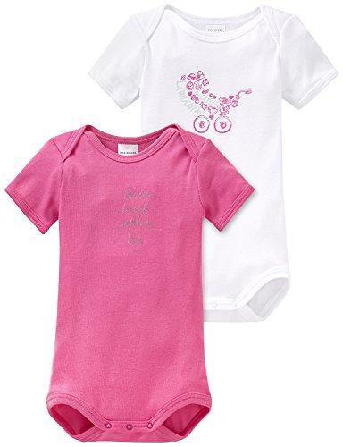Schiesser DP Baby Body 1/2, Multicolor (Sortiert 1 901), 1 Mes (56) (Pack de 2) para Niñas