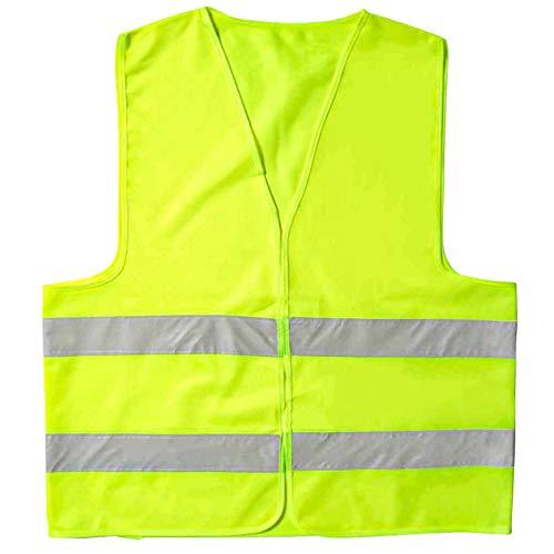 ITME 1 pezzi Gilet di Sicurezza, Alta Visibilità Con Strisce Riflettenti Gilet Riflettente Per La Corsa O il Ciclismo Gilet Riflettente Jogging, Passeggiate, Sport, Per Auto (Giallo Fluorescente)