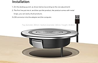 desktop wireless charging station with QI power standard for Iphone 8 & Plus, Iphone X, Samsung S7,S6,Note 5,s8,s8+, Nexus 6 5 easy refit office table,coffee table and any furniture