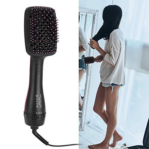 Cepillo de aire caliente, secador de cabello iónico 2 en 1, alisado multifuncional portátil y cepillo de pelo rizado para reducir el daño del cabello(EU)
