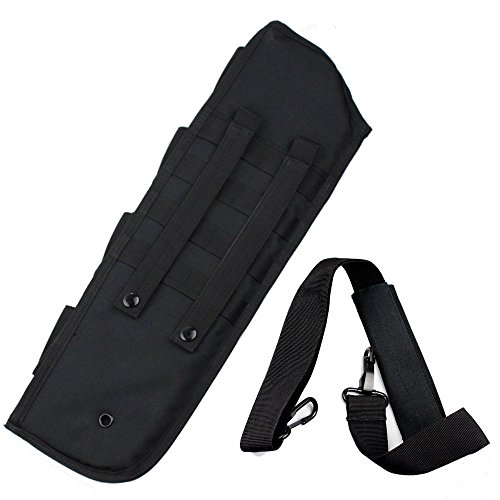 Viriber Tactical Breacher's Hunting Shotgun Scabbard Molle with Shell Pouch for Short Barrel (Black)