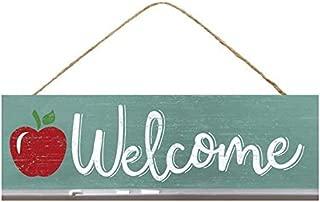 Craig Bachman Teacher Welcome Apple Wooden Sign Beach Summer Sandals (12.5 Inches x 6 Inches)