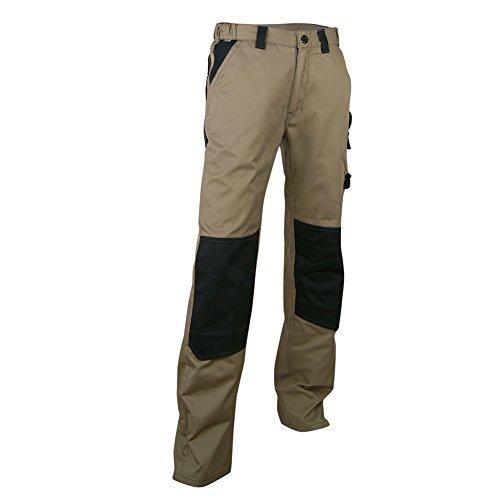 LMA Arbeitshose mit Knieschützer Taschen, beige/schwarz, mehrfarbig, 130300 PLOMB