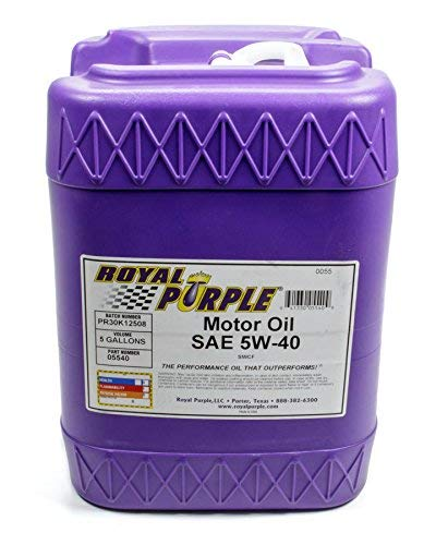 Royal Purple 05540 API-Licensed SAE 5W-40 High Performance Synthetic Motor Oil - 5 gal.