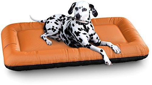 Knuffelwuff 13059 In und Outdoor Hundebett Hundekissen Hundesofa Hundekörbchen Hundekorb, Lucky Color Edition, Größe XXL 120 x 85 cm, orange