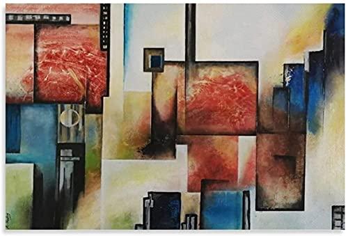 RLJHG Posters para Pared Mirando Todo sobre Arte Abstracto Pintura al óleo réplica Poster Lienzo Pared Arte Cuadros impresión Decoracion Moderna carteles40x60cm x1 Sin Marco