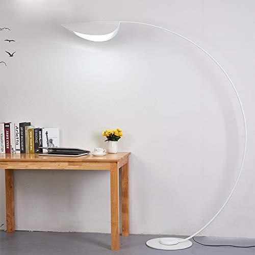 WUYUESUN Lámparas de piso nórdicas para pesca, lámparas de pie para sala de estar, cama, lámpara LED, lámpara alta, decoración del hogar, luces de pie (color de la pantalla blanca: blanco)