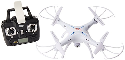 SYMA x5SW Drone, Cámara HD Wi-Fi Tiempo Real FPV, Fotos y Videos, Quadricopter, Color Blanco