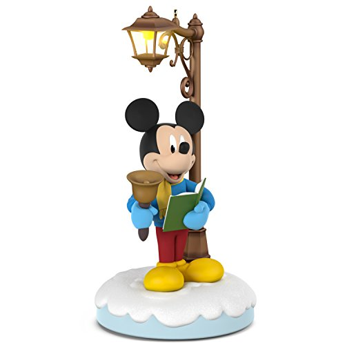 Hallmark Keepsake Christmas Ornament 2018 Year Dated, Disney Christmas Carolers Merry Mickey With Music, Light and Motion