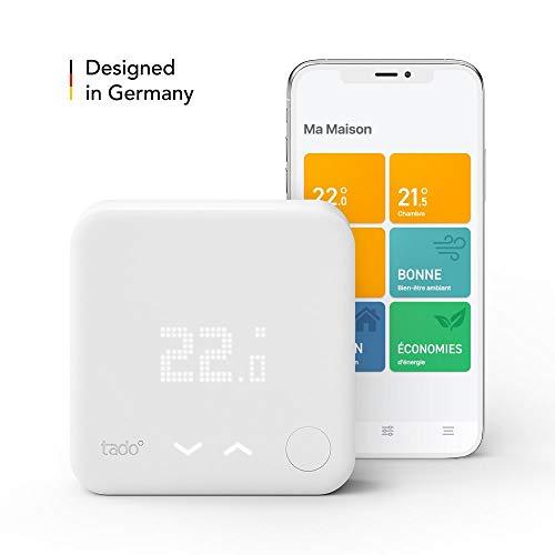 tado Thermostat Intelligent Kit de Démarrage V3+ - Contrôle intelligent du chauffage,...