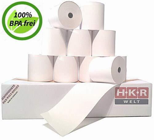 50 Thermorollen für Sharp XE A 207B - Thermo Kassenrollen 58/50/12 Ø 63mm - zertifizierte HKR-Welt® Bonrollen aus Thermopapier - BPA (Bisphenol-A) frei