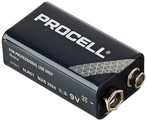 Duracell MN2400/10 - Batteria Procell 9 V, 10 pezzi, 3,5 x 13 x 5 cm, colore: Nero