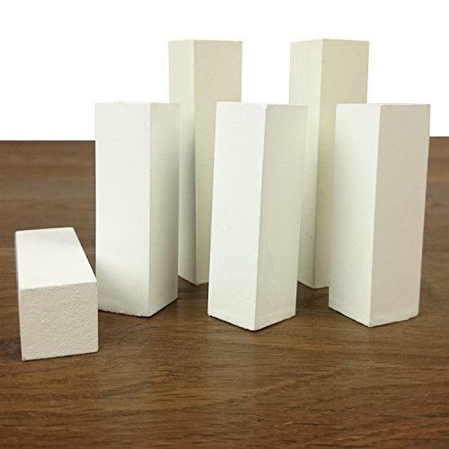 Eckturm als Innenecke und Außenecke oder als Endstück einsetzbar - einfach genial (Eckturm Höhe: 70 mm) für MDF Sockelleisten