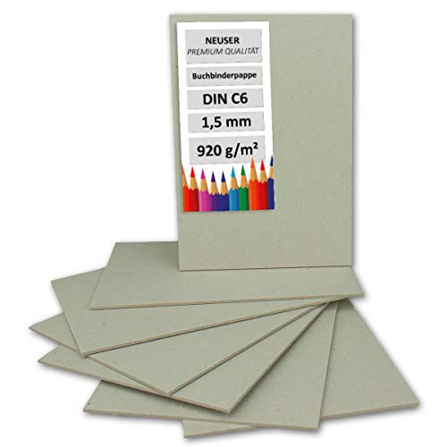 Libro Binder cartón DIN C6(grosor 1,5mm, gramaje: 920g/m²   Formato: 10,5x 15cm