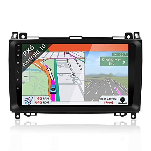 JOYX PX6 Android 10 Autoradio Navigatore per Benz Viano/Sprinter/W906 - [4G/64G] - GPS 1 DIN - Telecamera Canbus Gratuiti - 9 Pollici - Supporto HDMI 4K-Video AHD-Camera DAB 4G WLAN Bluetooth Carplay