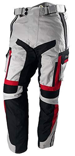 WinNet Pantaloni da moto UOMO/DONNA in cordura 4 stagioni con protezioni omologate di secondo livello (S)