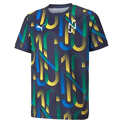 PUMA NEYMAR JR FUTURE Jersey Jr, Camiseta, Unisex Niños, Multicolor (Peacoat-Dandelion), 164