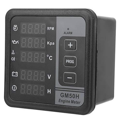 Medidor de horas de motor digital, medidor de pantalla digital de motor GM50H, accesorios de generador multifuncional para cortadora de césped, tractor, generador, motosierra, quitanieves marino