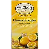 Twinings 2798343 Lemon & Ginger Herbal Tea Bags 25/Box