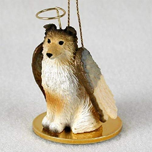1 X Sheltie Angel Dog Ornament - Sable