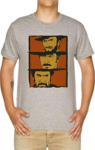 Vendax los Bueno, el Malo y el Feo Art - Película Camiseta Hombre Gris