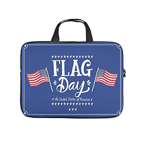 American Happy Independence Day - Funda impermeable para ordenador portátil, diseño estampado, para universidad, trabajo y negocios