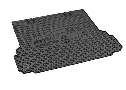 Passgenau Kofferraumwanne geeignet für BMW 5er Touring G31 ab 2017 ideal angepasst schwarz Kofferraummatte + Gurtschoner