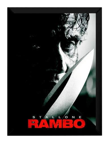 Quadro Filme Rambo Até O Fim Poster Moldurado Decorativo