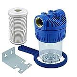 Wasserfilter 5Zoll Anschluss 1' IG für Hauswasserwerke Hochdruckreiniger Gartenpumpen inkl. Filtereinsatz, Zubehör