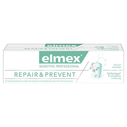 elmex SENSITIVE PROFESSIONAL Repair & Prevent Zahnpasta, 2er Pack (2 x 75 ml)