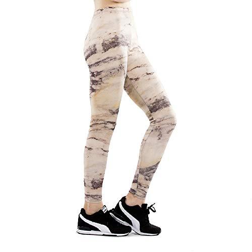 DSCX Leggings Femminili Stampati Pantaloni da Yoga Pantaloni Sportivi da Corsa Moda Traspirante all'aperto di Grandi Dimensioni Bianco L