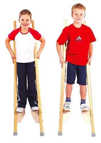 Sport-Thieme Kinderstelzen | Stelzen für Kinder bis 150 cm | Sicher, Stabil, Höhenverstellbar | Belastbar...