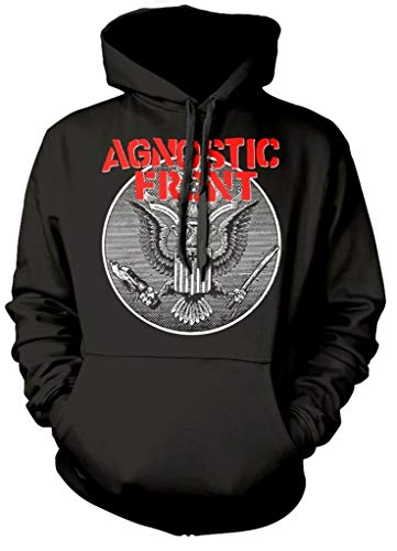Agnostic Front 'Against All Eagle' Pull Over Hoodie (medium)