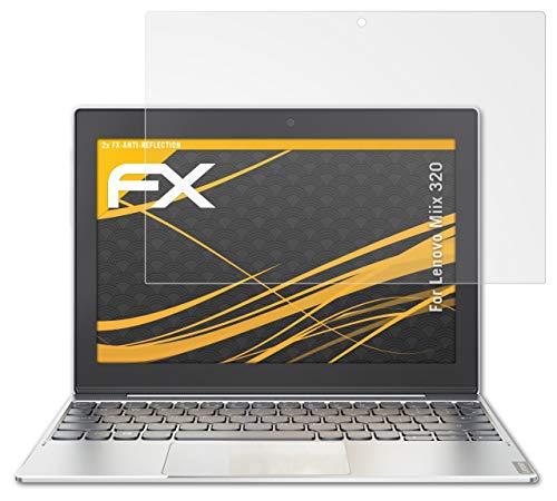 atFolix Panzerfolie kompatibel mit Lenovo Miix 320 Schutzfolie, entspiegelnde & stoßdämpfende FX Folie (2X)