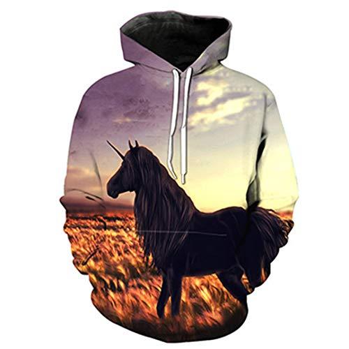 3D Allover Animal Horse - Sudadera con Capucha Unisex 4 XXXXL