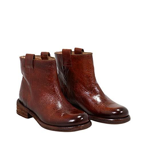 Felmini - Damen Schuhe - Verlieben VERDY A956 - Cowboy & Biker Stiefel - Echtes Leder - Braun - 39 EU Size