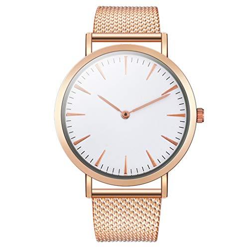 jieGorge Reloj de Hombre, Reloj de Negocios de Moda para Hombre Reloj analógico, joyería y Relojes de Correa de Silicona de PVC Simple (Oro Rosa)