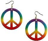 amscan Tie Dye Peace Earrings Multi Color, 6