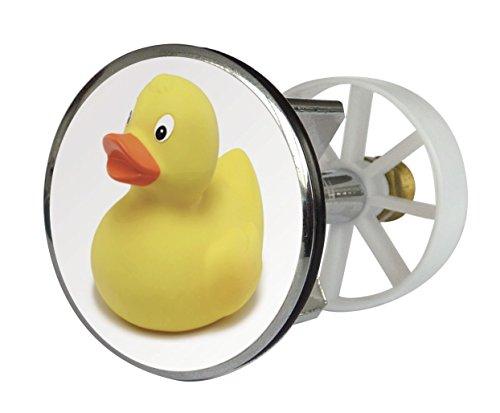 Waschbeckenstöpsel Design Ente | Abfluss-Stopfen aus Metall | Excenterstopfen 38 – 40 mm