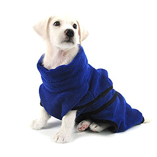 PETCUTE Hundebademantel Hunde Bademantel schnell trocknend Hundebekleidung Bademantel für Hunde kleine mittlere große