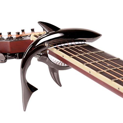 Shark Guitar Capo Pretty Cool Capo for Electric Acoustic Classical Guitar Ukulele Zinc Alloy Spring Capo (Black)
