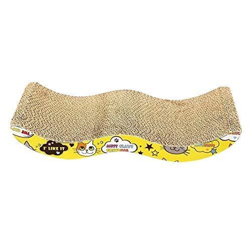 SASDA Katze Kratzbrett, Katze Scratcher Pappe Wellpappe Kitten Scratch Platte Pad Scraper Matratze Pfotenpflege Spielzeug-Haustier-Katze-Nagel-Scraper Pad Matratze Cat Scratch Board,EIN