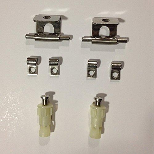 Roca AI0006500R scharnierset voor toiletbril Sidney, reserveonderdeel, staal