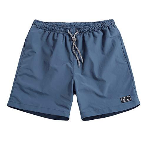 MIRRAY Kurze Hosen Herren Sommer Bequem Plus Size Dünne, schnell trocknende Strandhose Lässige Sporthose Blau