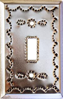 Fine Crafts Imports Single Toggle Silver Tin Switchplate